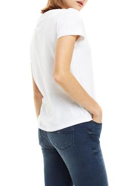 T-Shirt Tommy Jeans Soft Branco Mulher