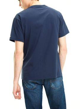 T-Shirt Tommy Jeans Scratched Marino Homem