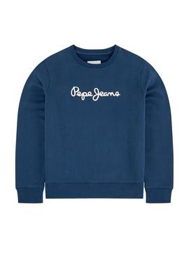 Sweat Pepe Jeans Winter Ronit Azul Menino