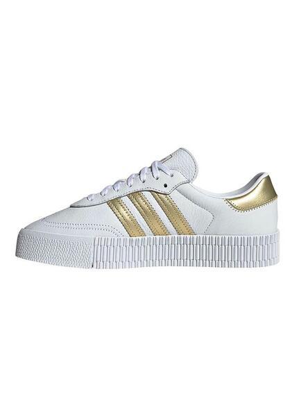Sapatilhas Adidas Sambarose W Branco Gold Mulher
