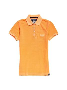 Polo Superdry Cotton Mulher Laranja