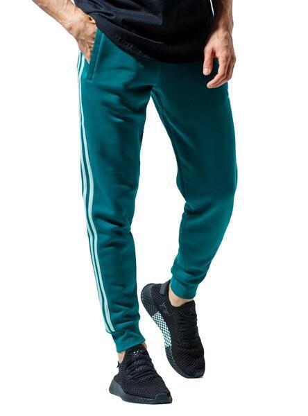 Adidas calça 3 Stripes Verde para Homem