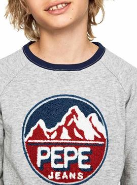 Sweat Pepe Jeans Marvin Cinza Menino