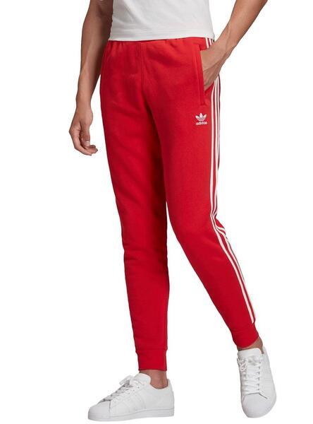 Calças Adidas 3 STRIPES Vermelho para Homem