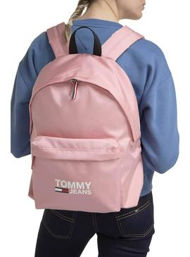 Mochila Tommy Jeans Cool City Pink para Mulher