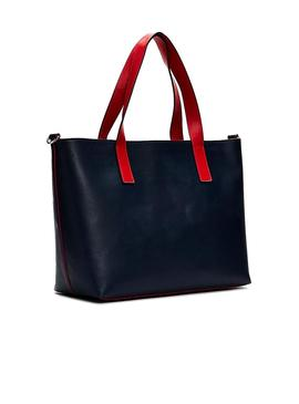 Saco Tommy Jeans Femme Tote Marino Mulher