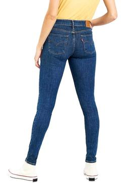 Jeans Levis 710 Innovation Azul Mulher
