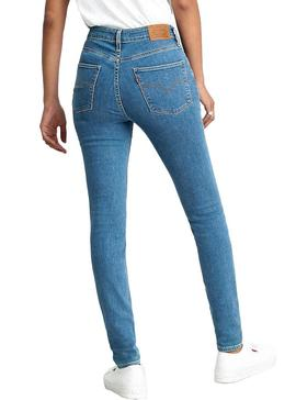 Jeans Levis 721 High Rise Azul Mulher