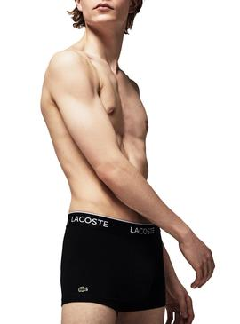 Pack 3 Boxers Lacoste Casual Preto para Homem