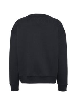 Sweat Tommy Jeans Badge Preto Mulher