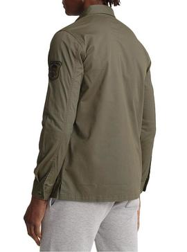 Camisa Superdry Core Military Patched Verde Hombre