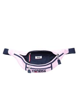 Bumbag Tommy Jeans Heritage rosa