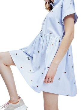 Vestido Tommy Jeans Critter Azul para Mulher