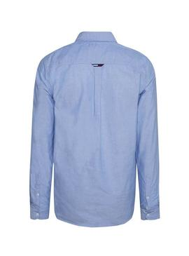 Camisa Tommy Jeans Osford Azul Mens