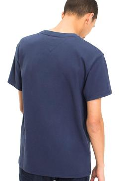 T-Shirt Tommy Jeans Logo Azul