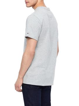 T-Shirt Tommy Jeans Logo Cinza