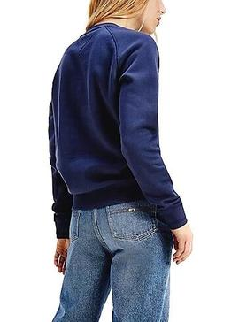 Sweat Tommy Jeans Atemporal Azul Marinho Mulher