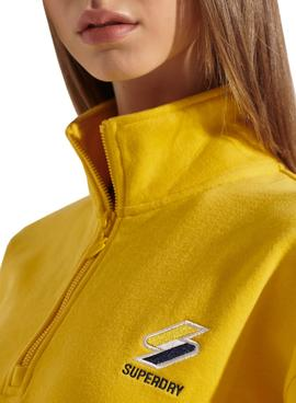 Sweat Superdry Sportstyle Amarelo para Mulher
